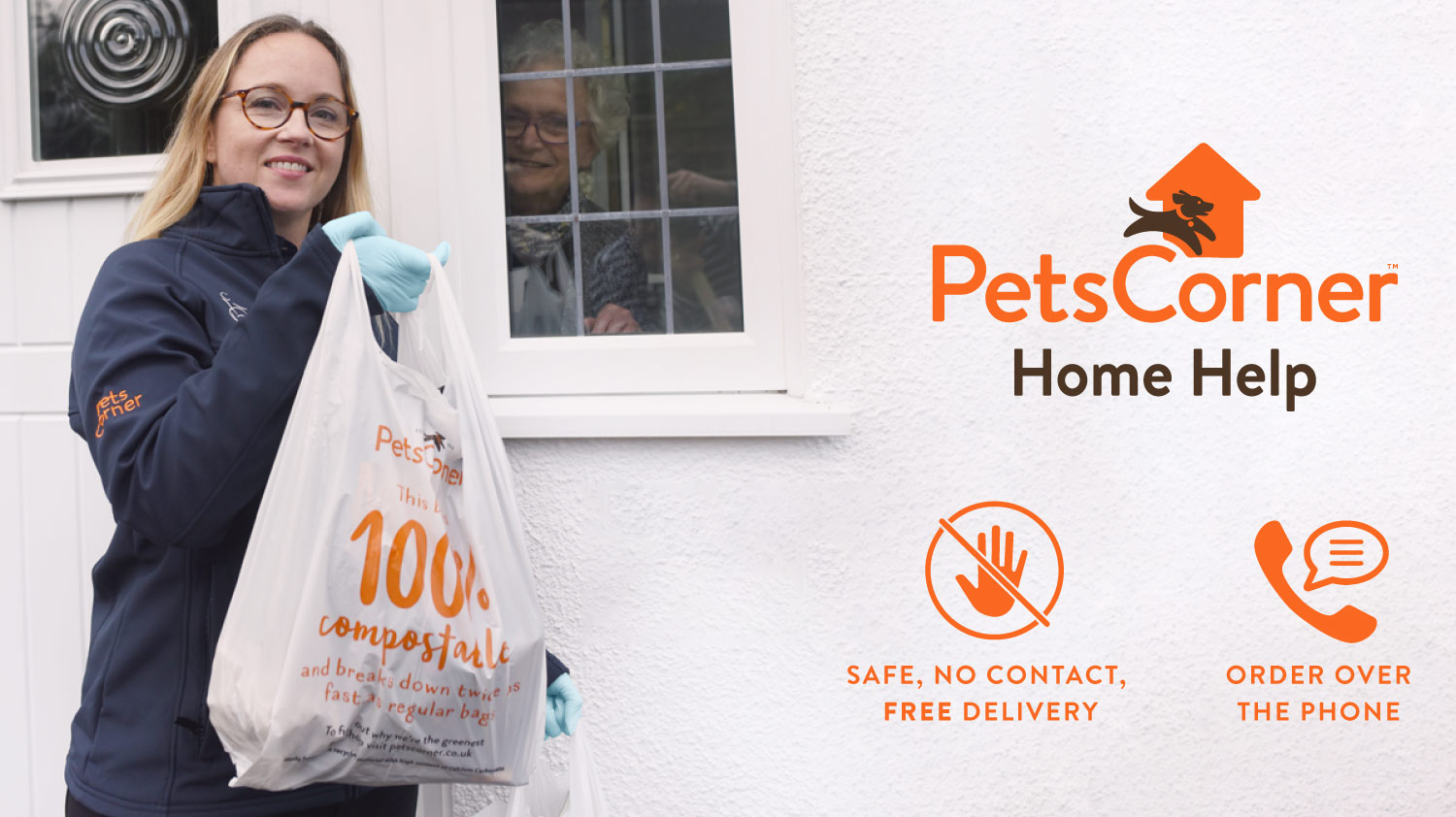 Pets Corner home help. Safe, no contact, free delivery. Order over the phone
