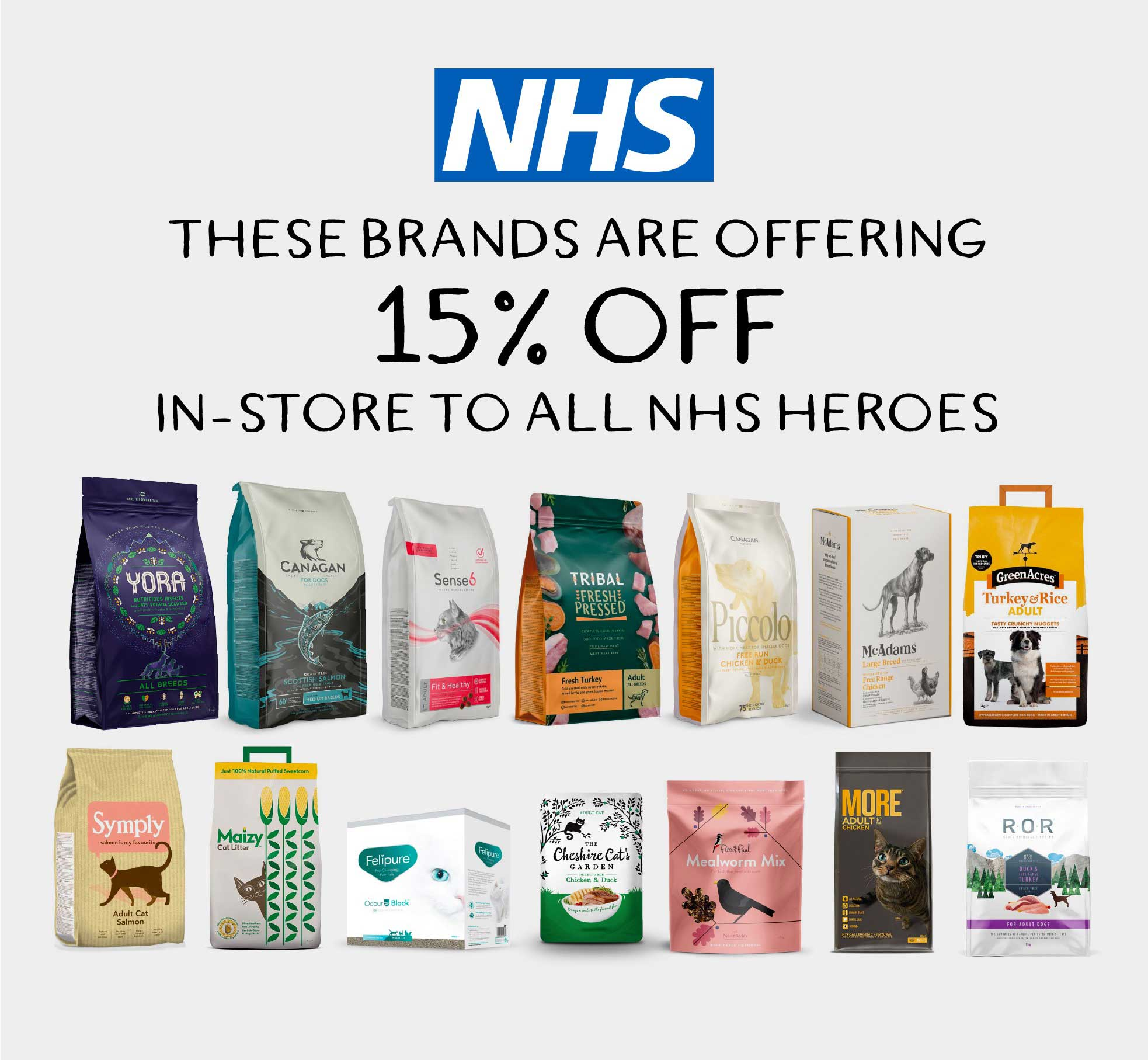 NHS 15% off brands