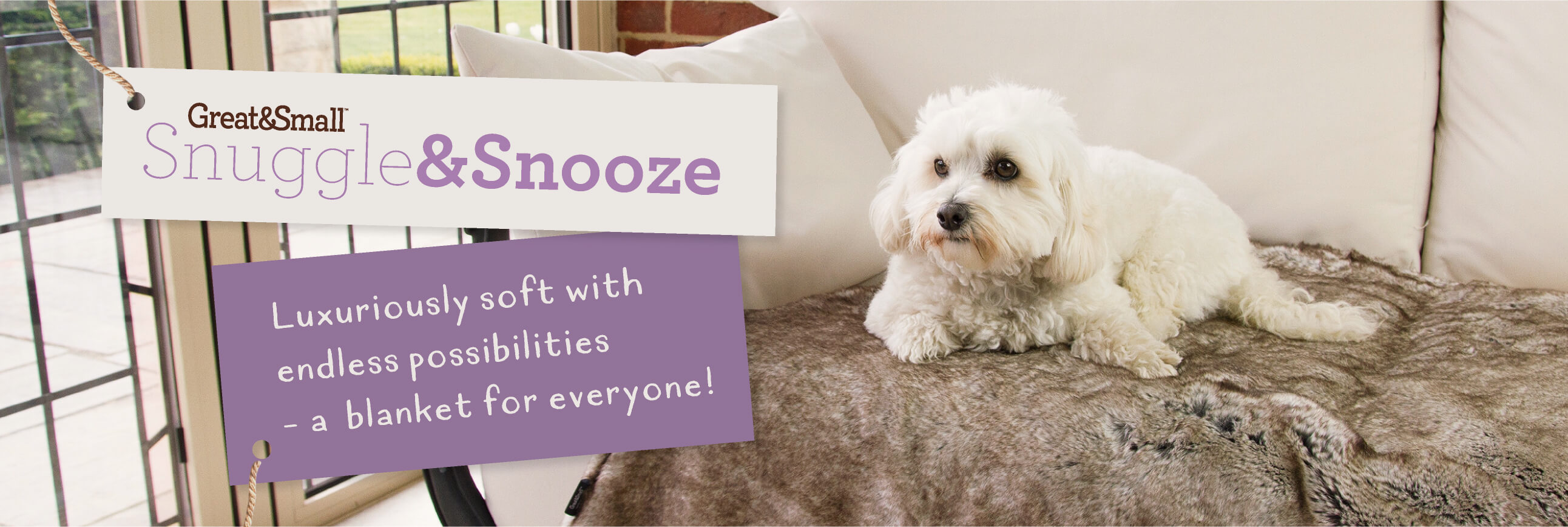 Great&Small Snuggle & Snooze Faux Fur Blanket Bed Now Only £59.99