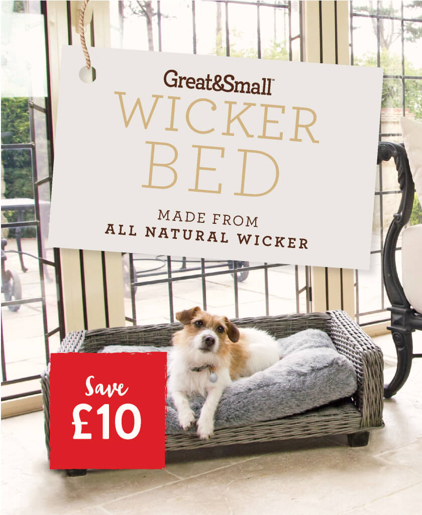 Great&Small Wicker Bed made from all natural wicker - Save £10