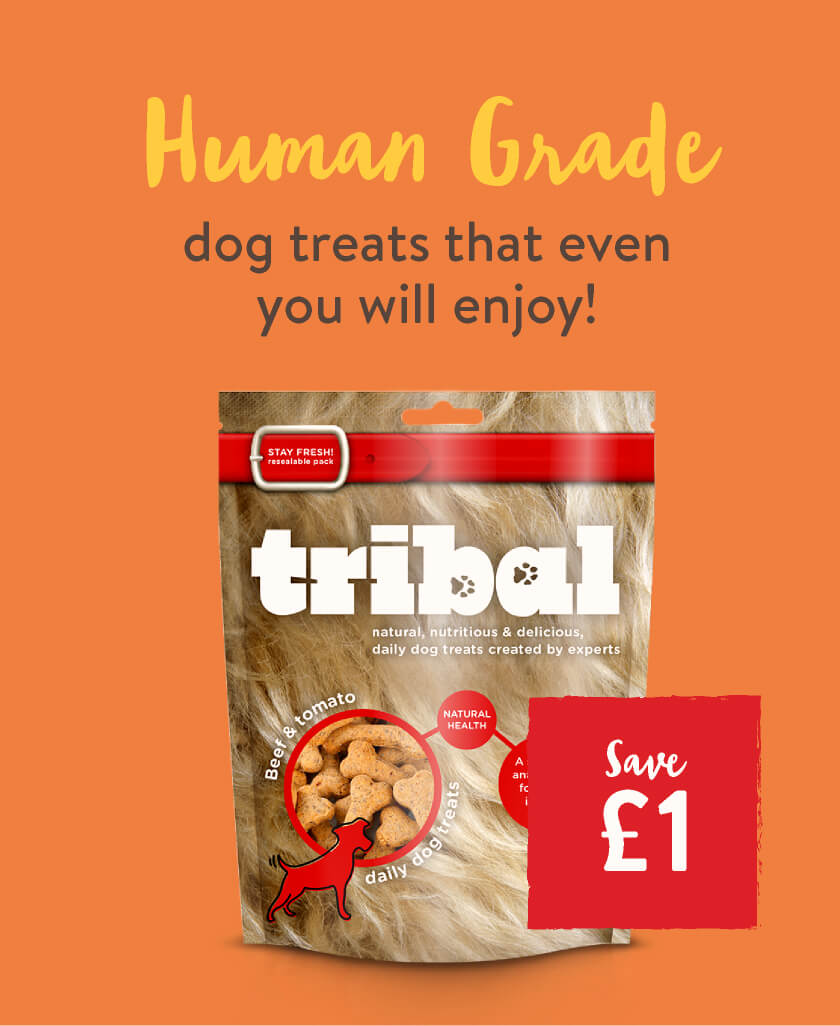 Save £1 on Human grade dog treats