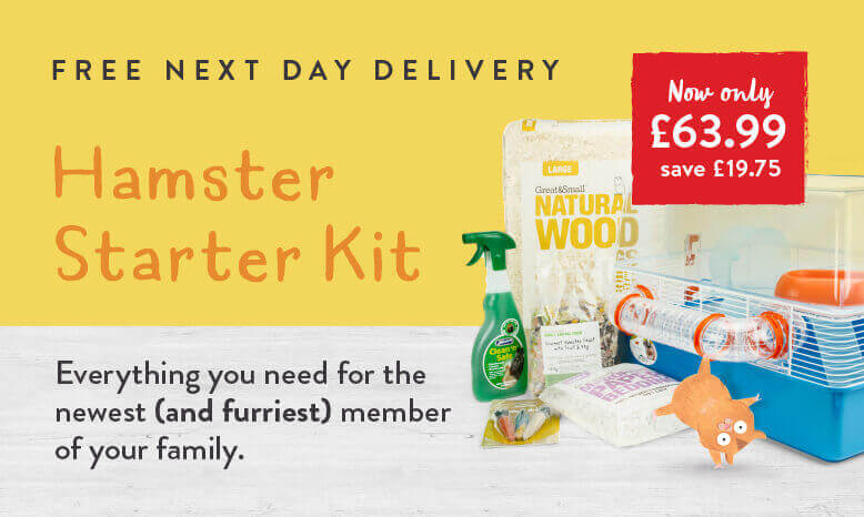 Hamster Starter Kit - Everything you need for the newest (and furriest) member of your family.