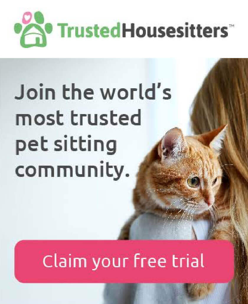 Find your perfect pet sitter and travel with complete peace of mind with Trusted Housesitters - Claim your exclusive one month free trial