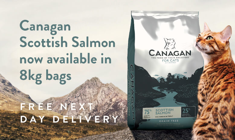Canagan Cat Salmon now available in 8kg bags.