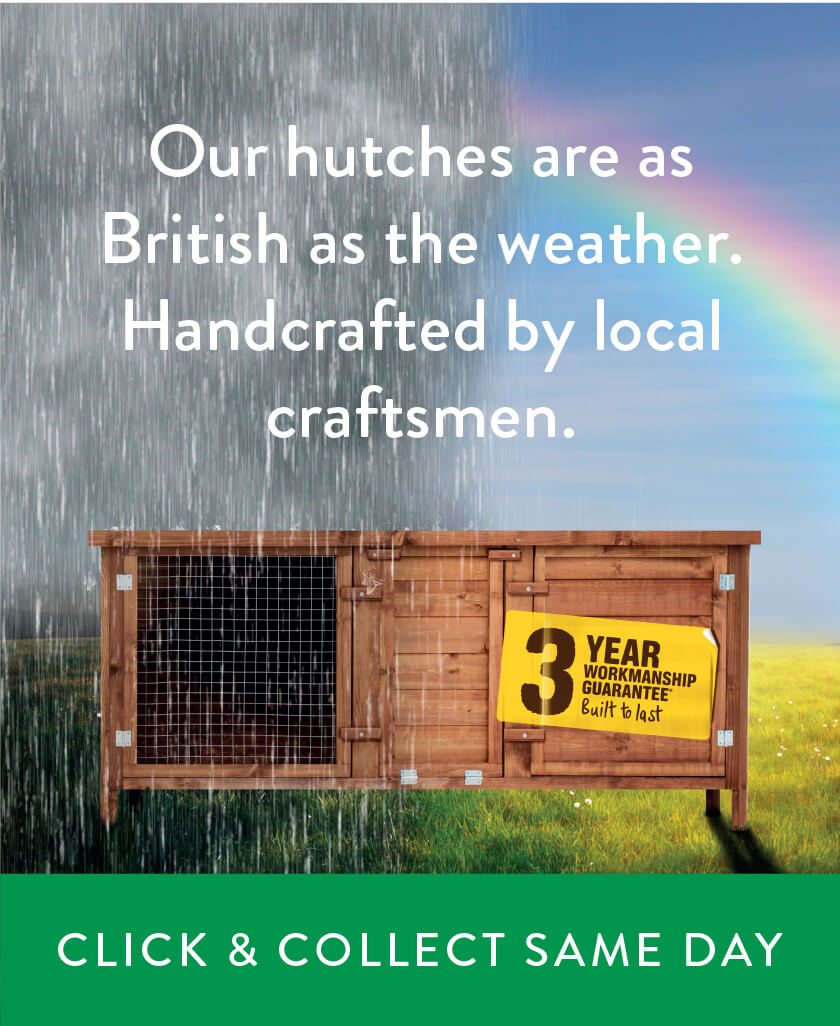 Our hutches are as British as the weather