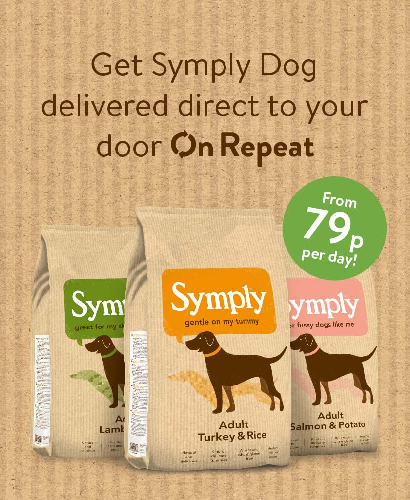 Get Symply Dog delivered direct to your door On Repeat. From 79p per day!