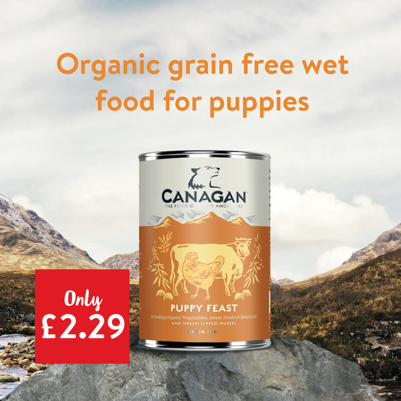 Canagan - Organic grain free wet food for puppies - only £2.29