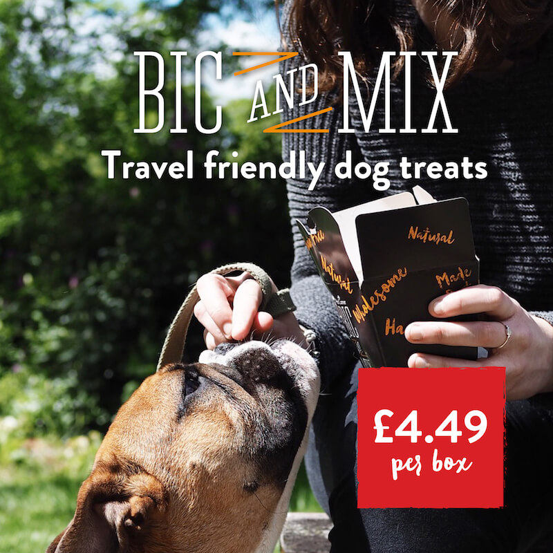 Bic and Mix. Travel Friendly dog treats