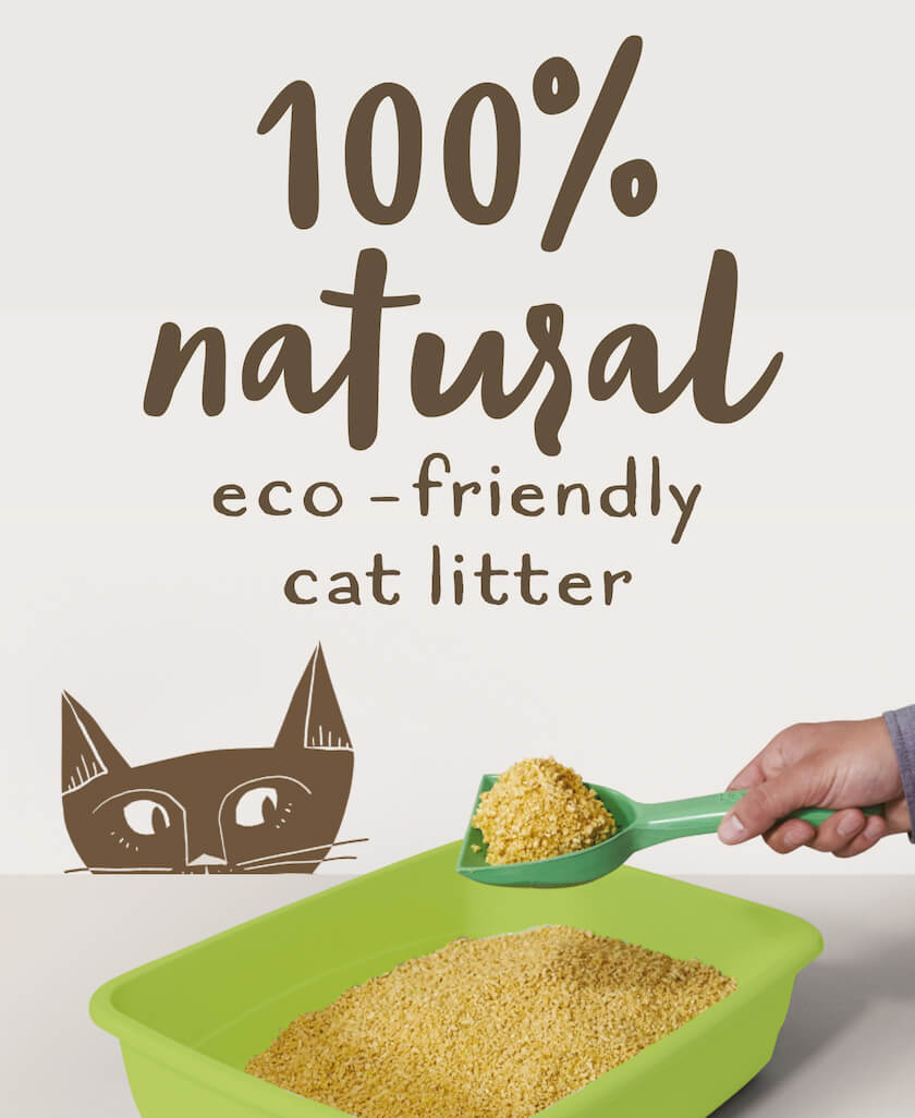 Maizy. 100% Natural eco-friendly cat litter