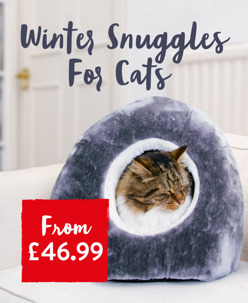 Winter snuggles for cats. From £46.99