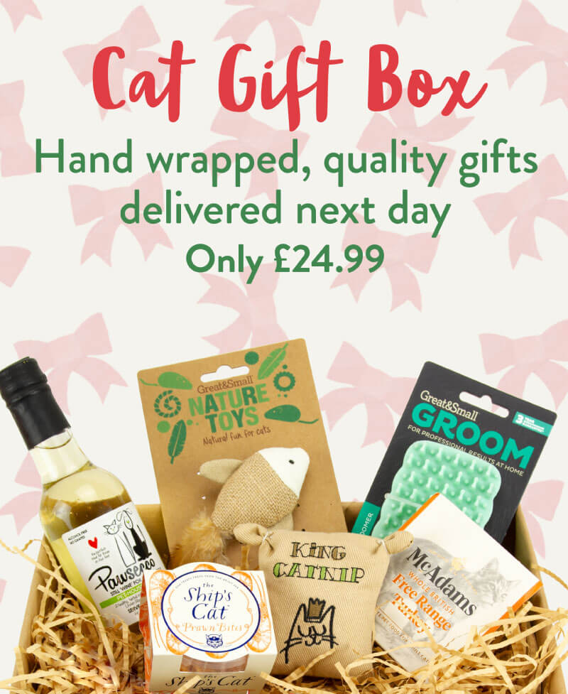 Cat Gift Box. Hand wrapped, quality gifts delivered next day. Only £24.99