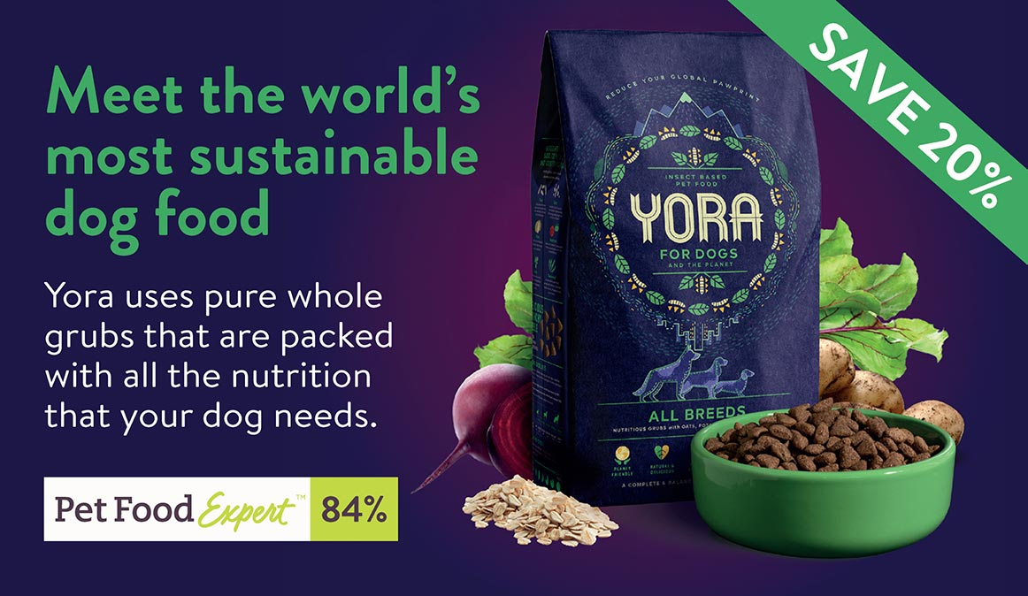 Meet the world's most sustainable dog food. Yora For Dogs - Save 20%
