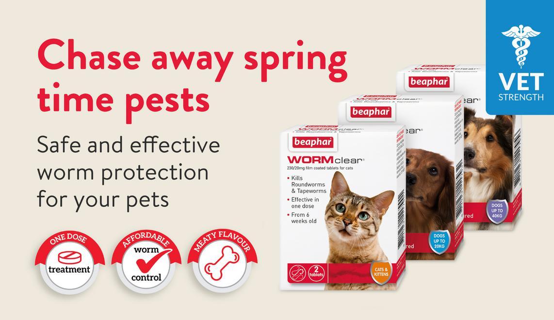 Beaphar Worming. Chase away spring time pests