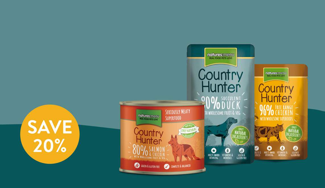 Country Hunter. The ultimate choice in real and natural pet food