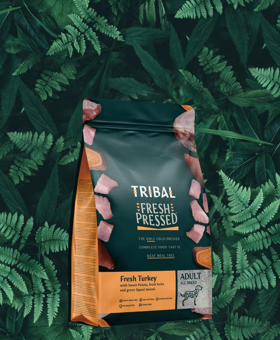 Tribal. The only cold pressed dog food made without meat meal