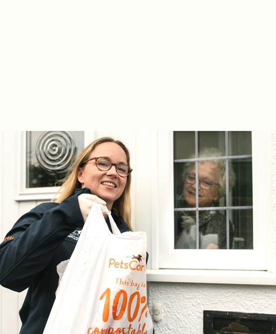 Free delivery to elderly and high risk people within a 10 minute drive from the store