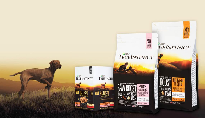 True Instinct. Premium quality raw inspired nutrition
