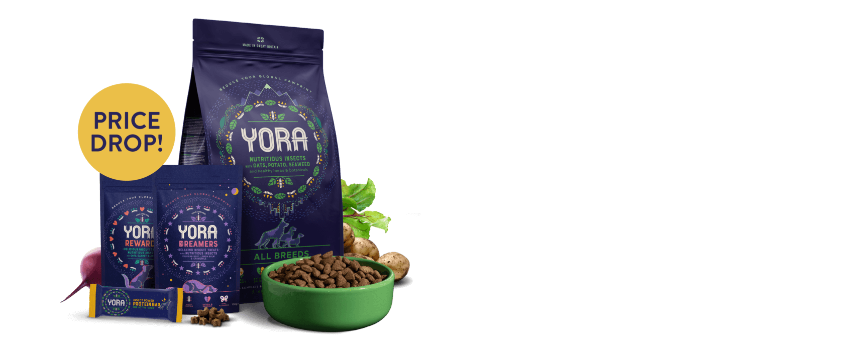 The world's most sustainable dog food is now much more affordable. Up to 20% OFF forever. Price Drop! Find out why and shop