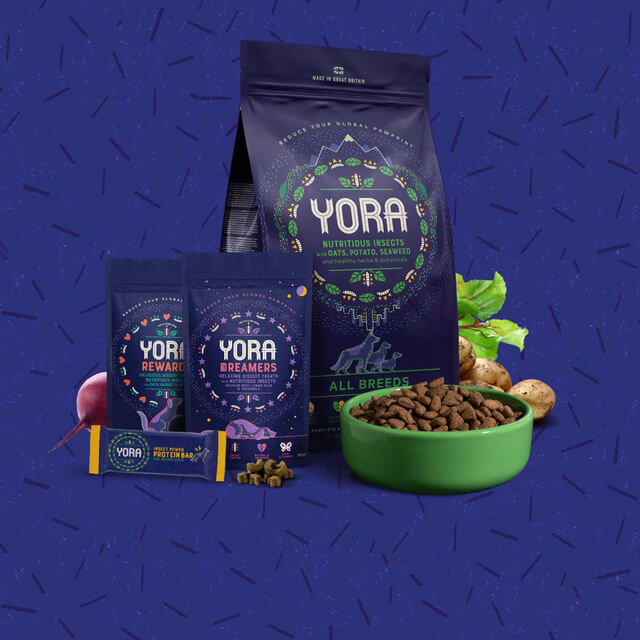 Yora. Sustainable dog food