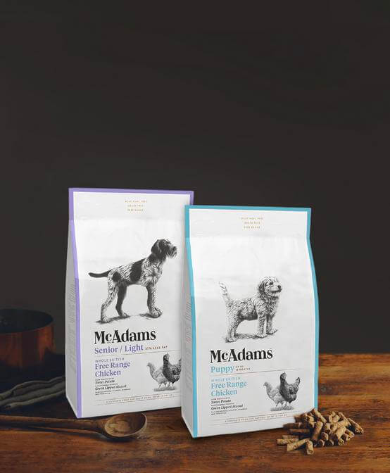 High Welfare Food for Puppies & Senior Dogs. Shop McAdams