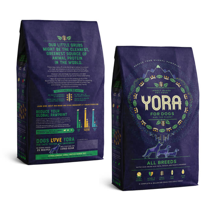 Yora insect protein dog food